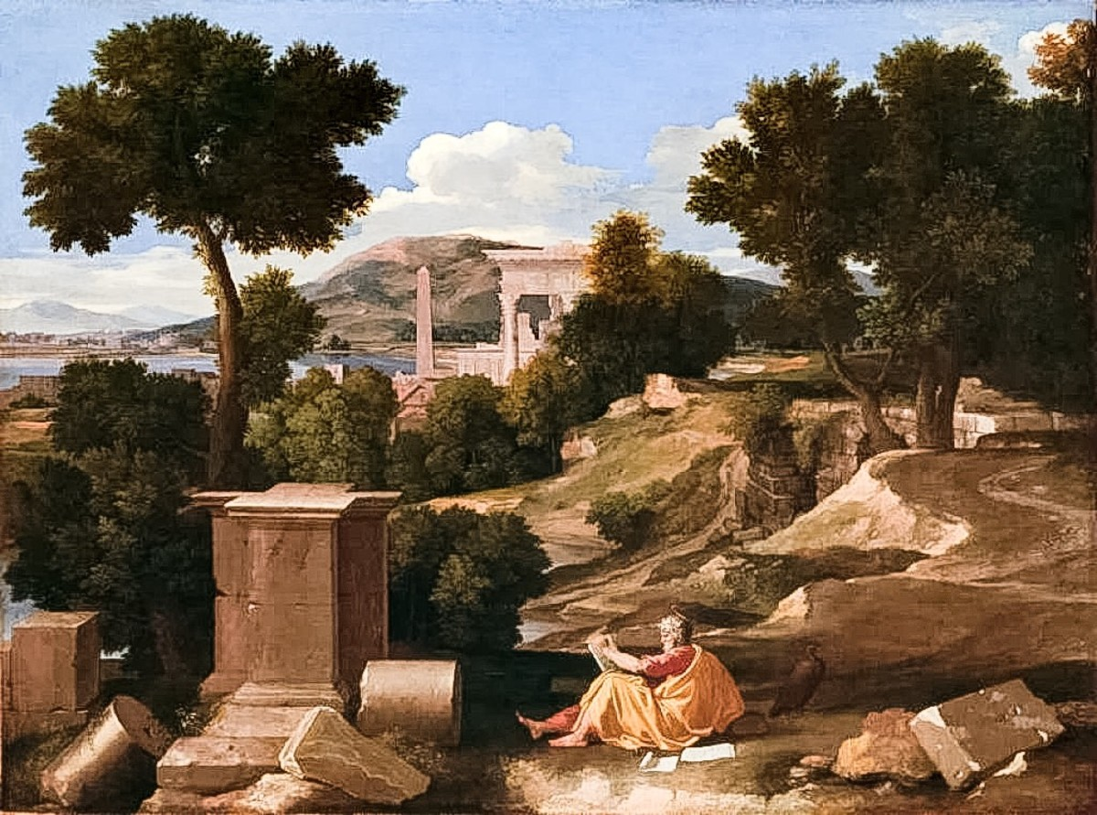 Poussin St John On The Island Of Patmos
