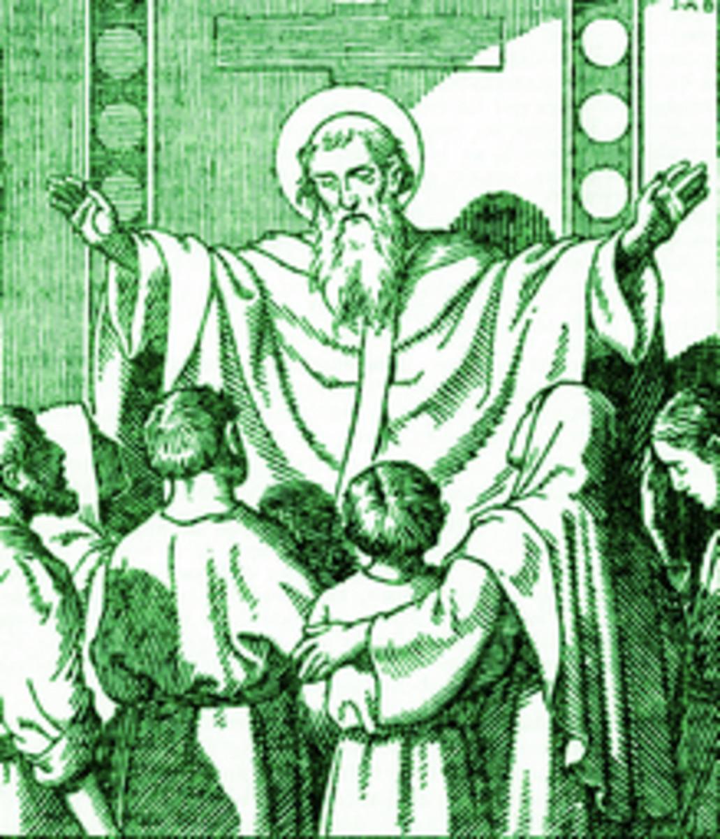 Saint Irenaeus (c130-202) Bishop of Lugdunum in Gaul (now Lyons, France)