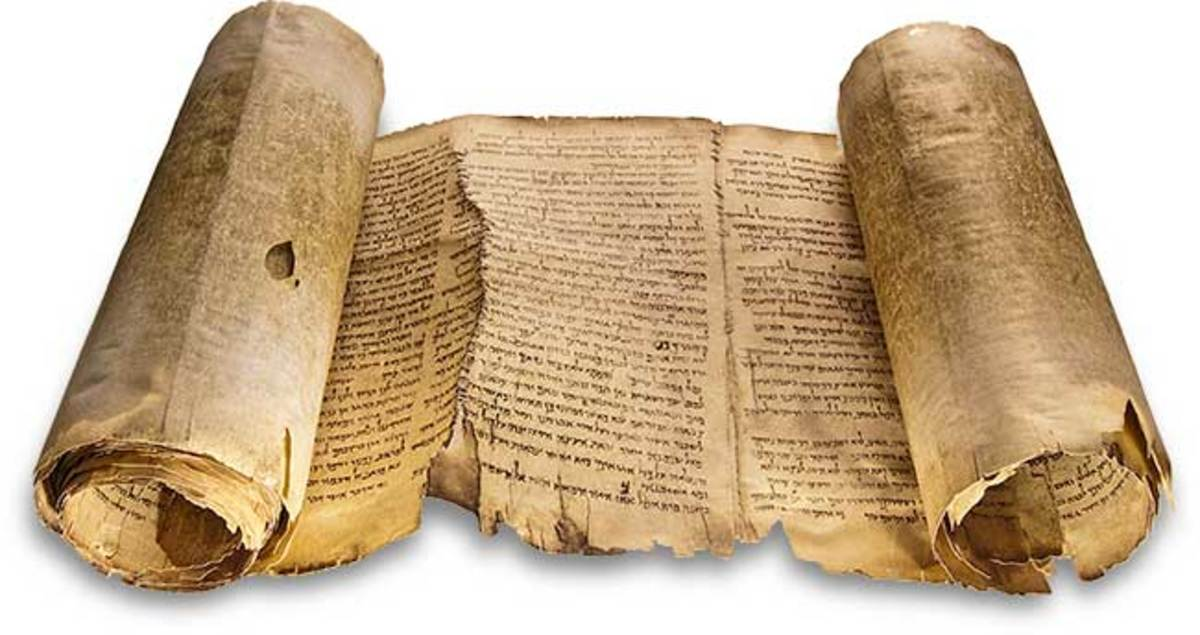 Facsimile of Dead sea scrolls