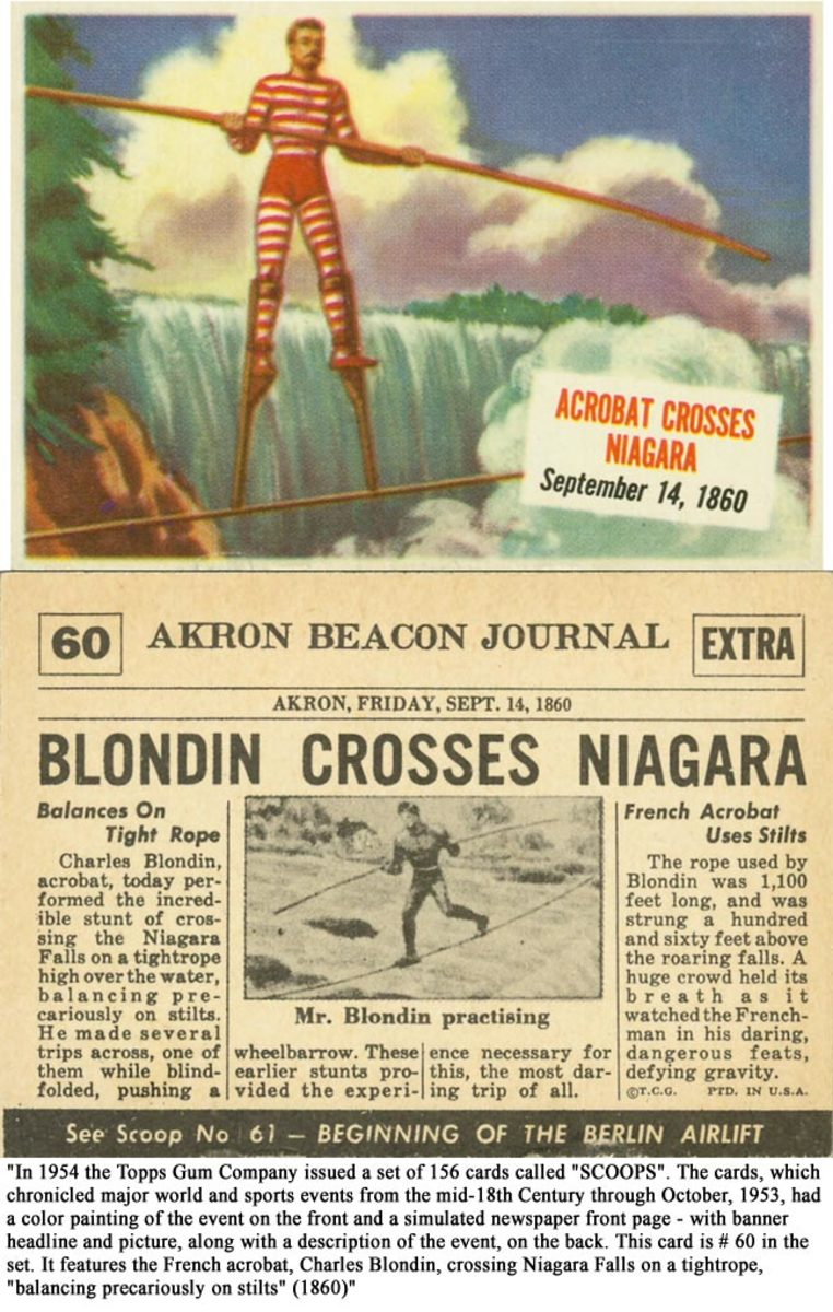 Blondin crosses Niagara