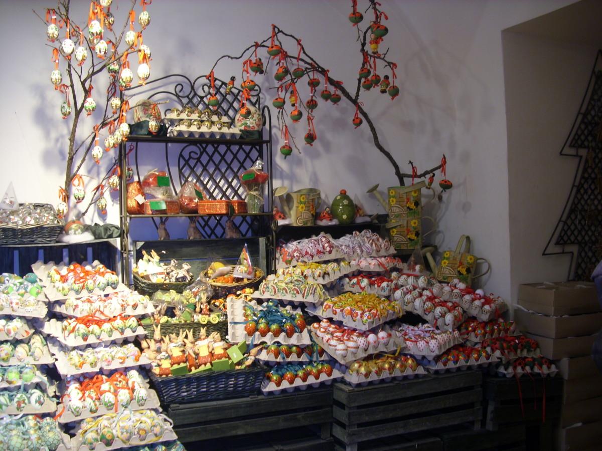 Easter Eggs sold in Salzburg, Austria.