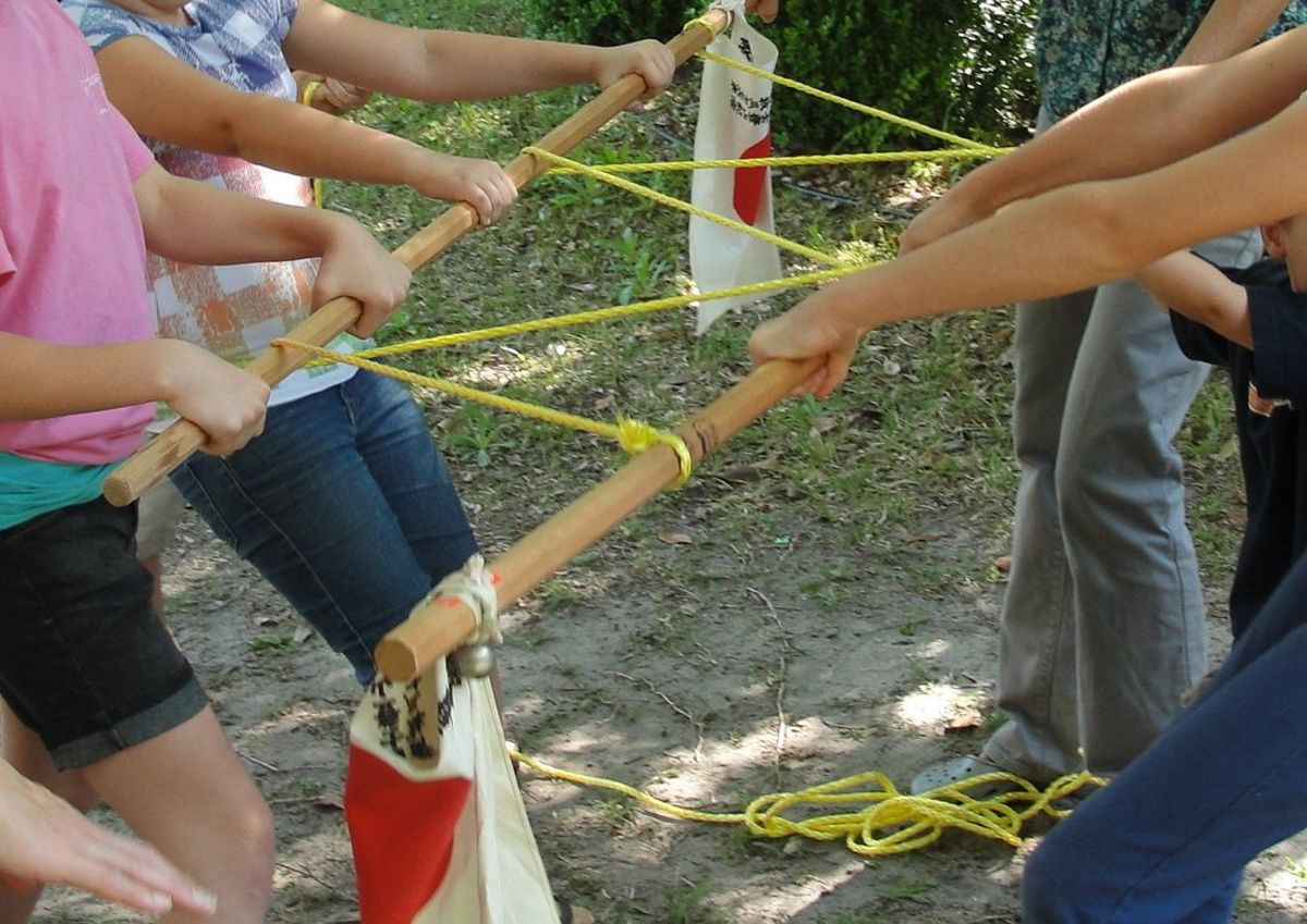 Playing Pulley Tug-of-War