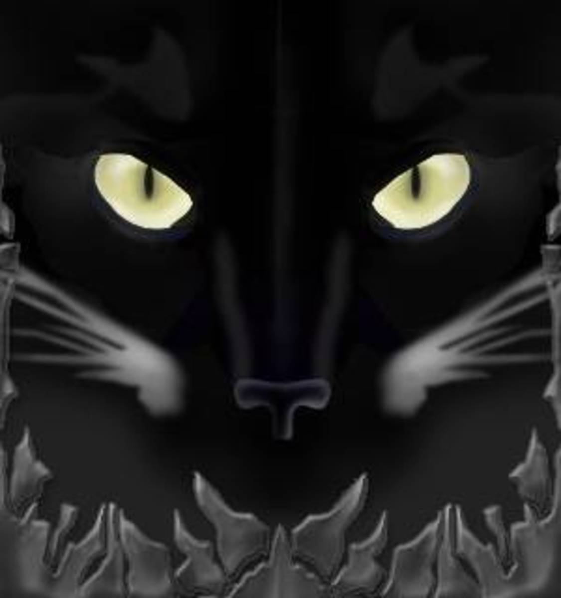 The black cat features in Russian Superstitions and old wives tales as it does in other countries throughout the world