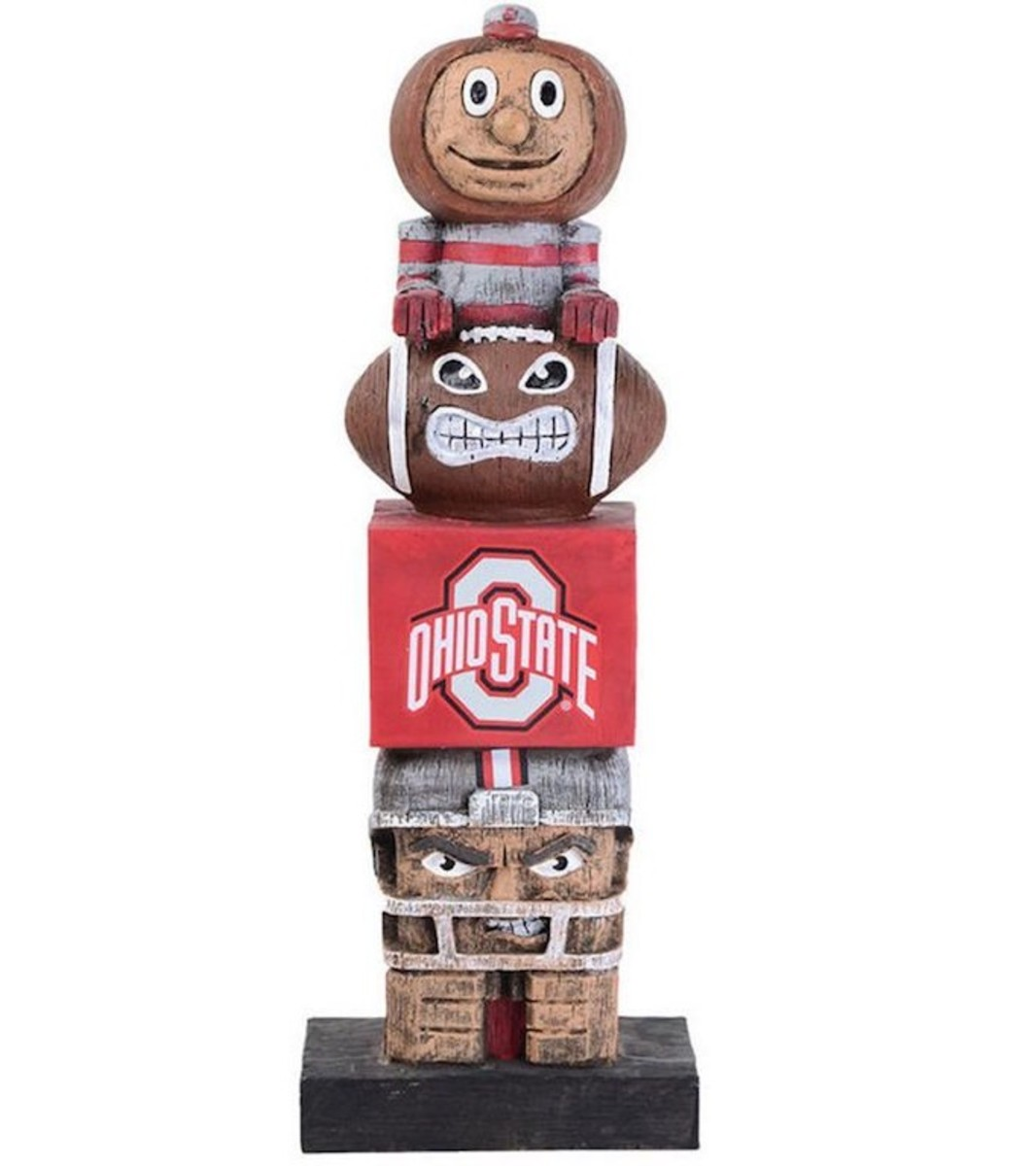 The Ohio State University Buckeyes totem pole for sale in many sports gift shops.
