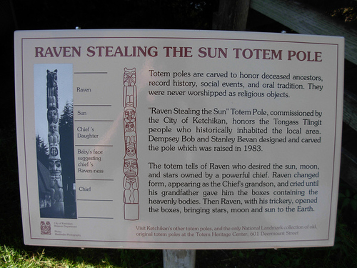 Totem poles were never religious idols, as Christian Missionaries through them to be. Poles were and are Storytellers. The Power Animals traveled between the worlds, i.e., Heaven and Earth.