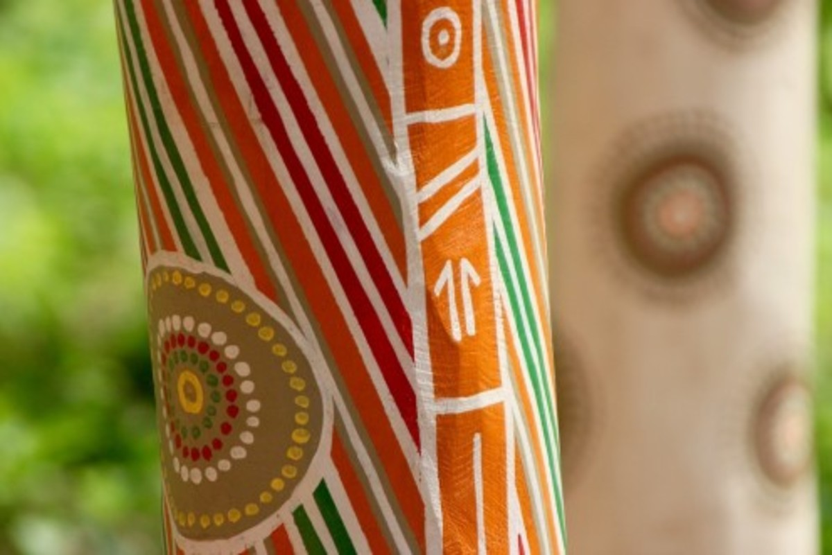 Close-up of a coffin pole.