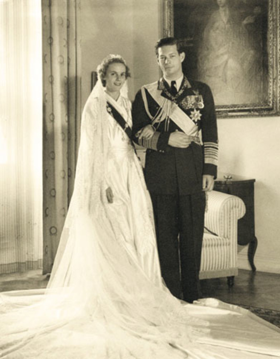 The wedding of king Michael of Romania with Princess Ana of Bourbon-Parma