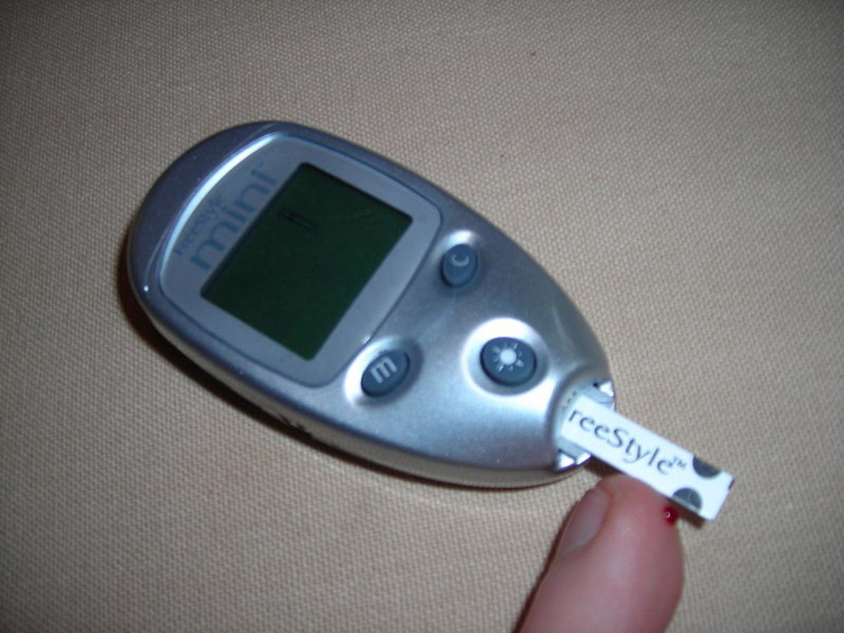 Blood sugar meter used to test for hypoglycemia