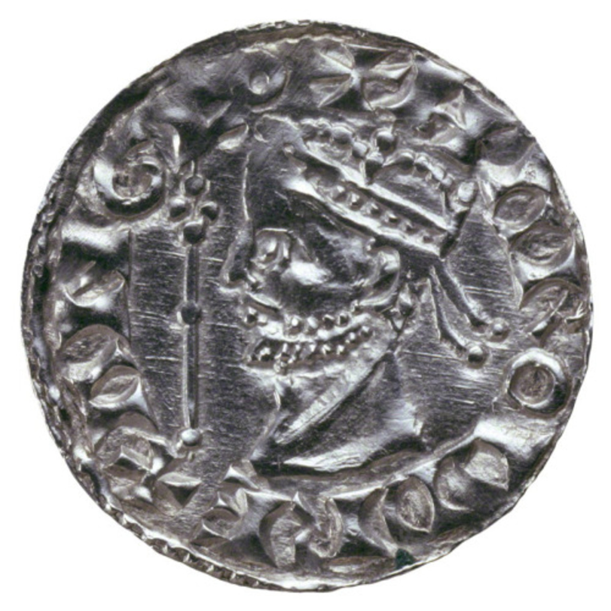 A silver penny minted for Harold modelled on a Byzantine Theodorus