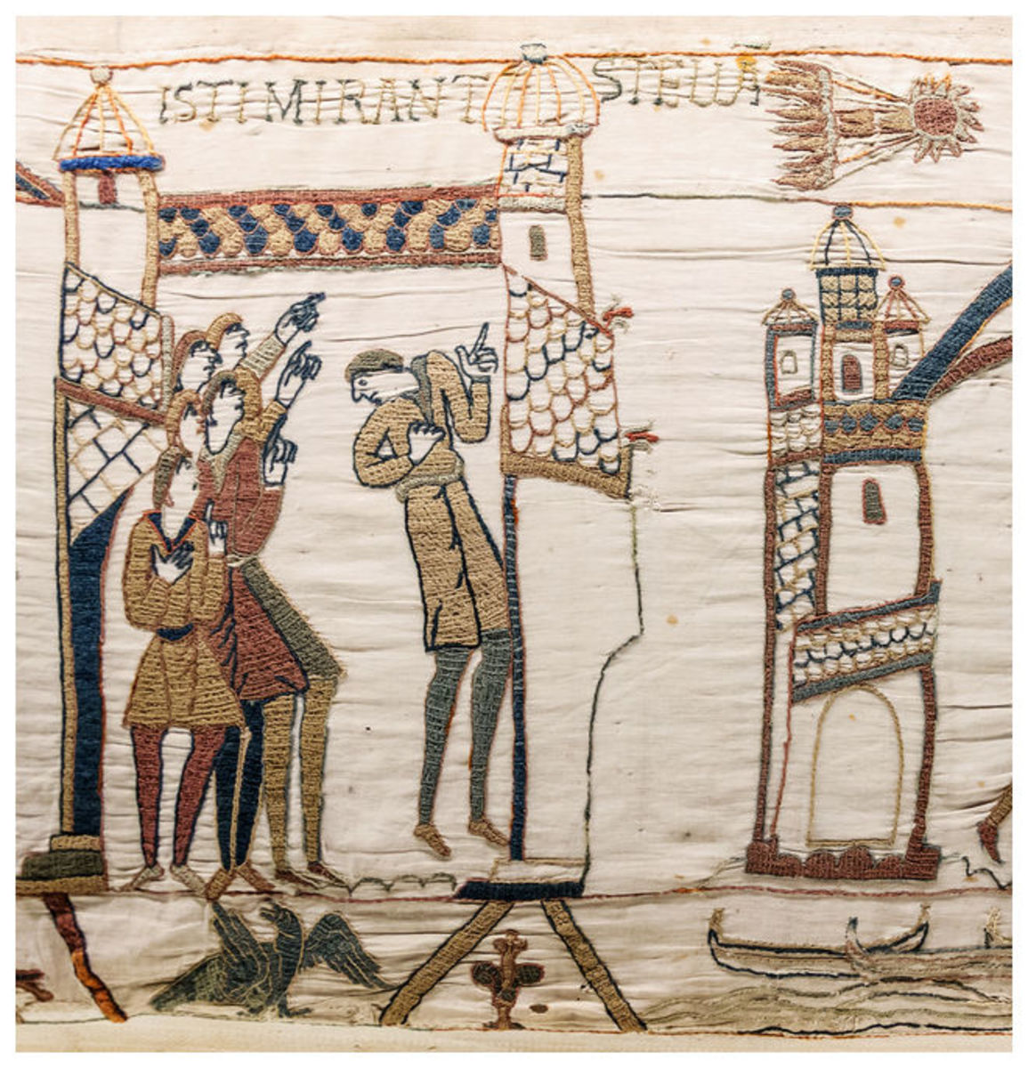 Also according to Odo's commissioned Bayeux Tapestry, the sighting of the 'Long-tail'd star', traditionally an omen of ill luck read differently across the Channel