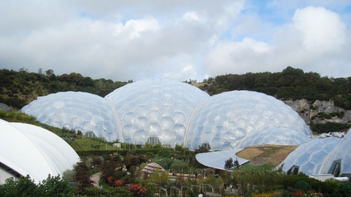 How Big is the Eden Project, Cornwall, England