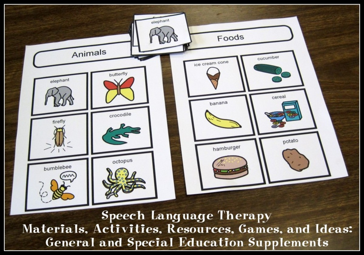 Speech Language Therapy Materials, Activities, Resources, Games, and Ideas: General and Special Education Supplements