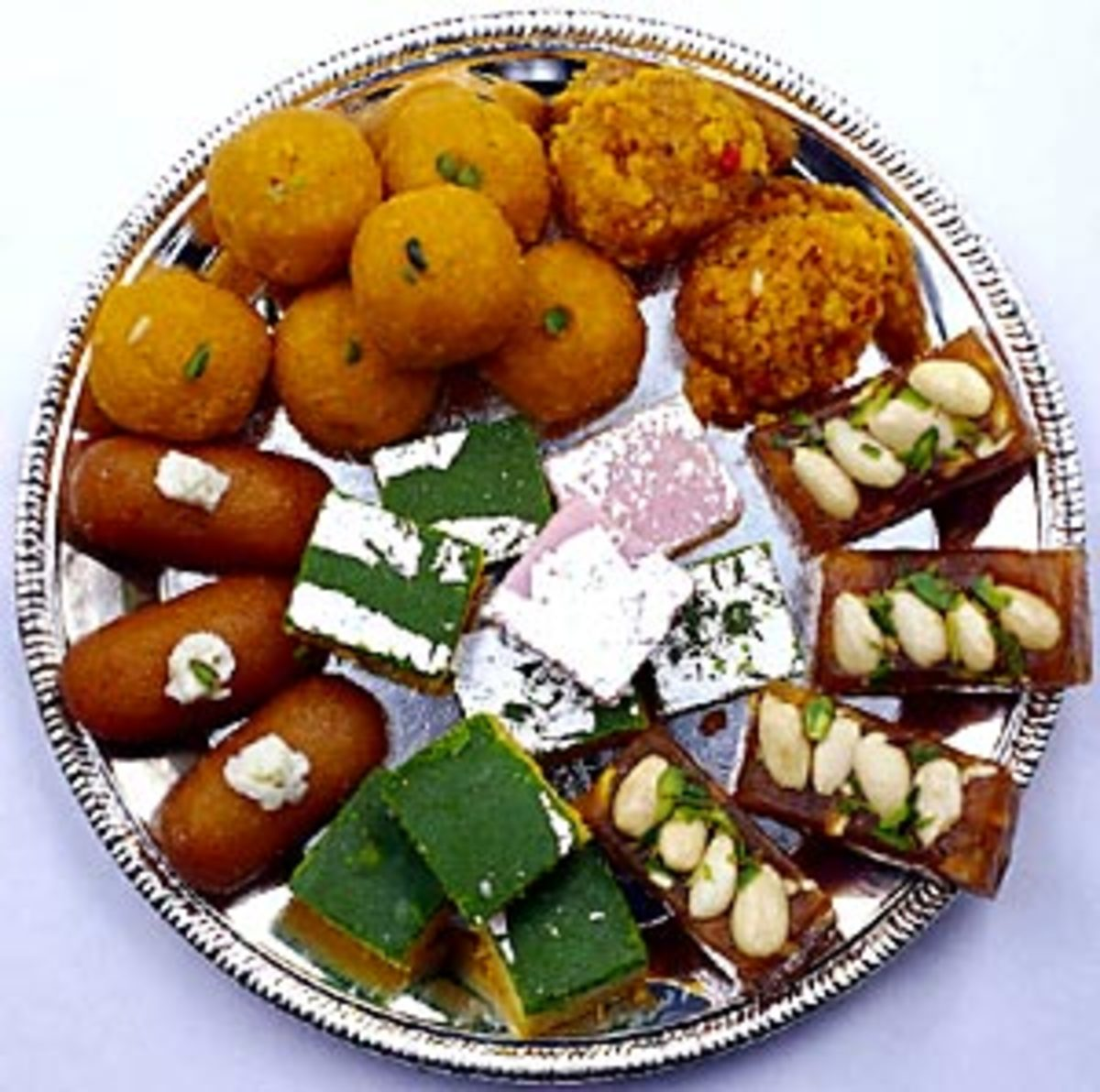 A variety of Indian sweets