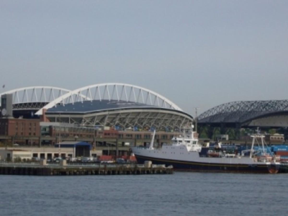 Seahawks and Mariners Stadiums