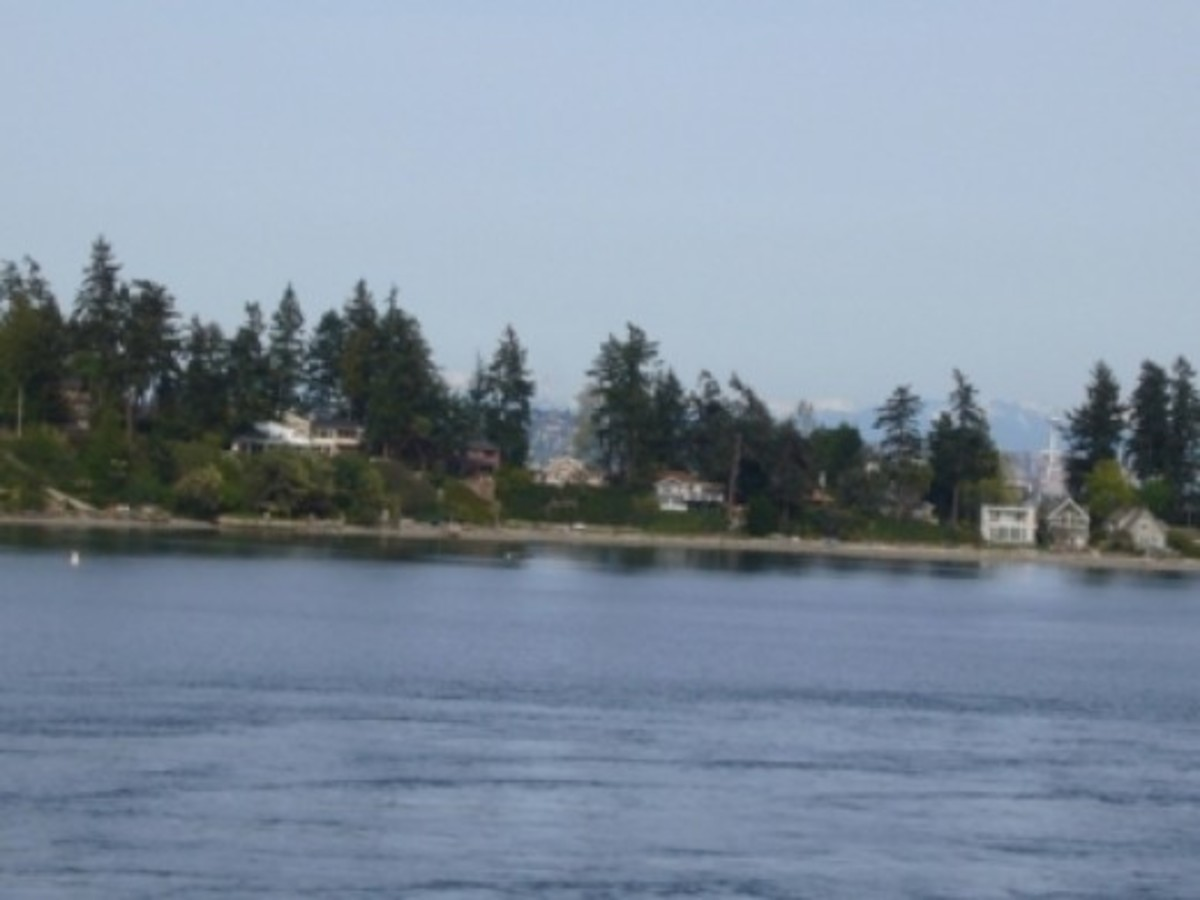 Arriving at Bainbridge Island