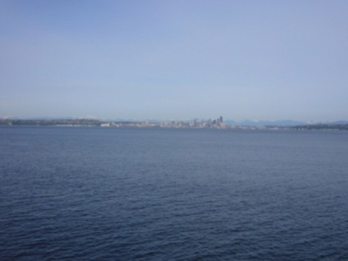 The View of Seattle as the Ferry Departs from Bainbridge Island