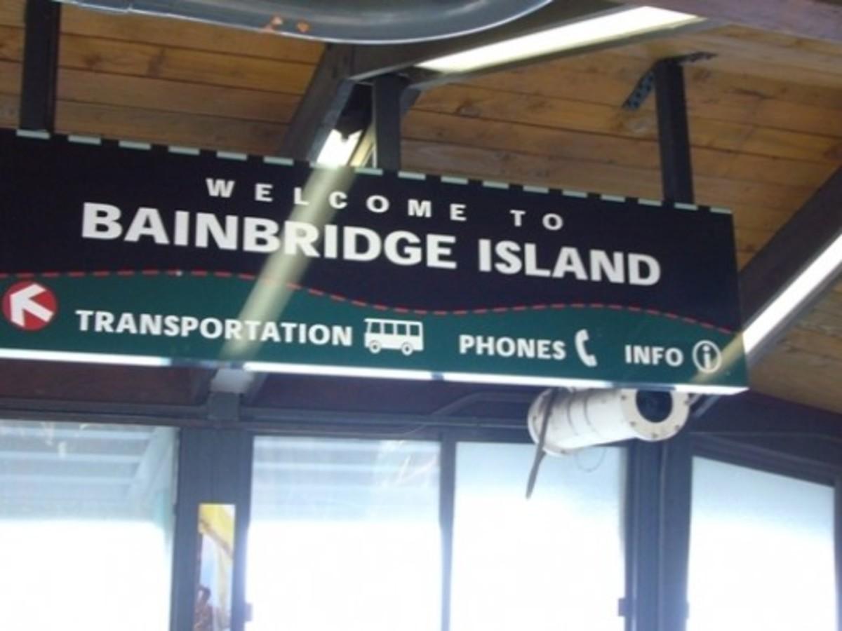 Welcome to Bainbridge Island Sign