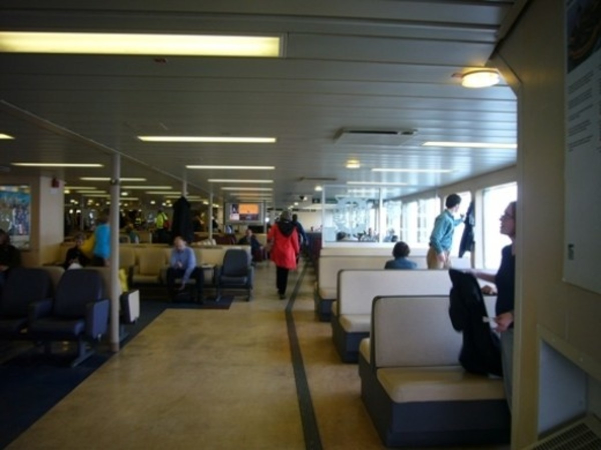 Main Passenger Deck of the ferry Wenatchee