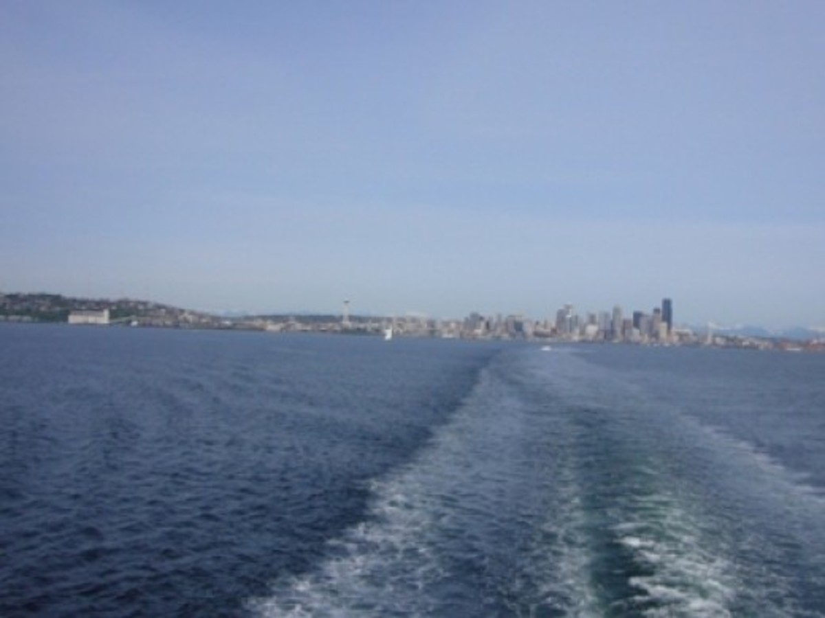 Seattle Skyline from the Bainbridge Island Ferry