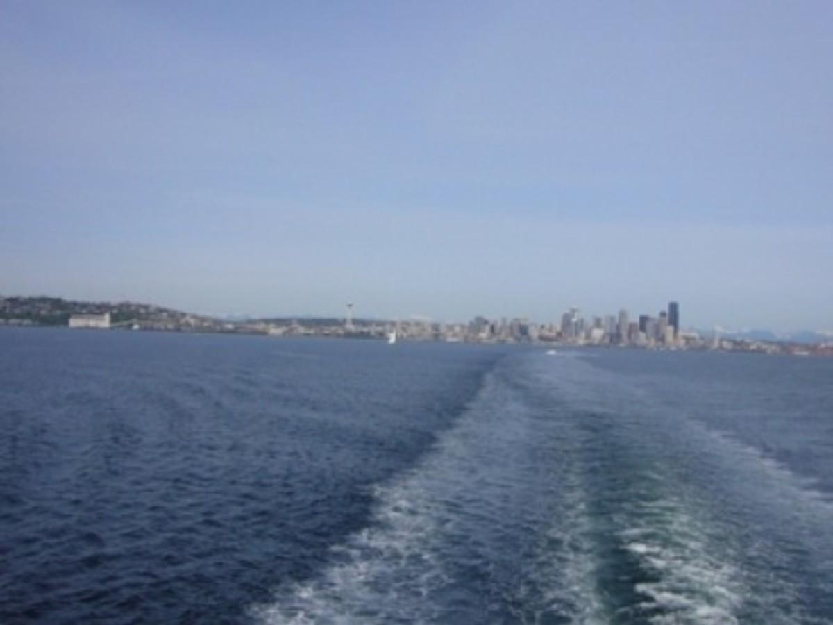 Seattle Skyline from the Bainbridge Island Ferry
