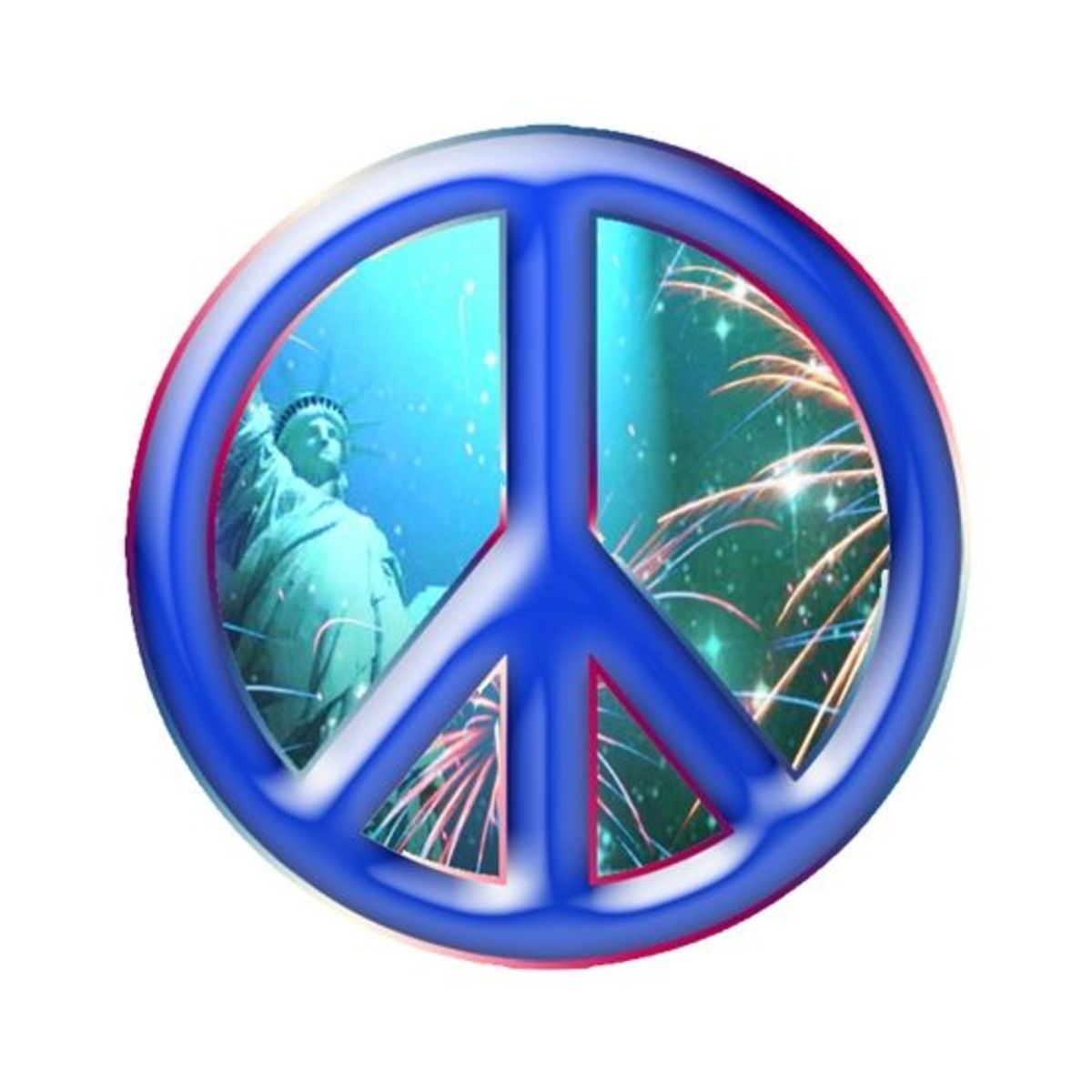 Patriotic Peace Sign Clipart