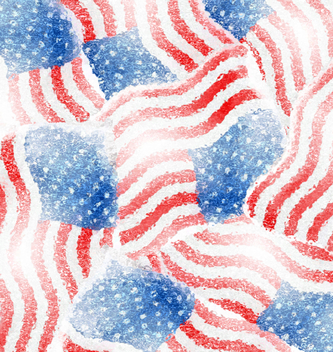 American flags clip art scrapbook pattern.