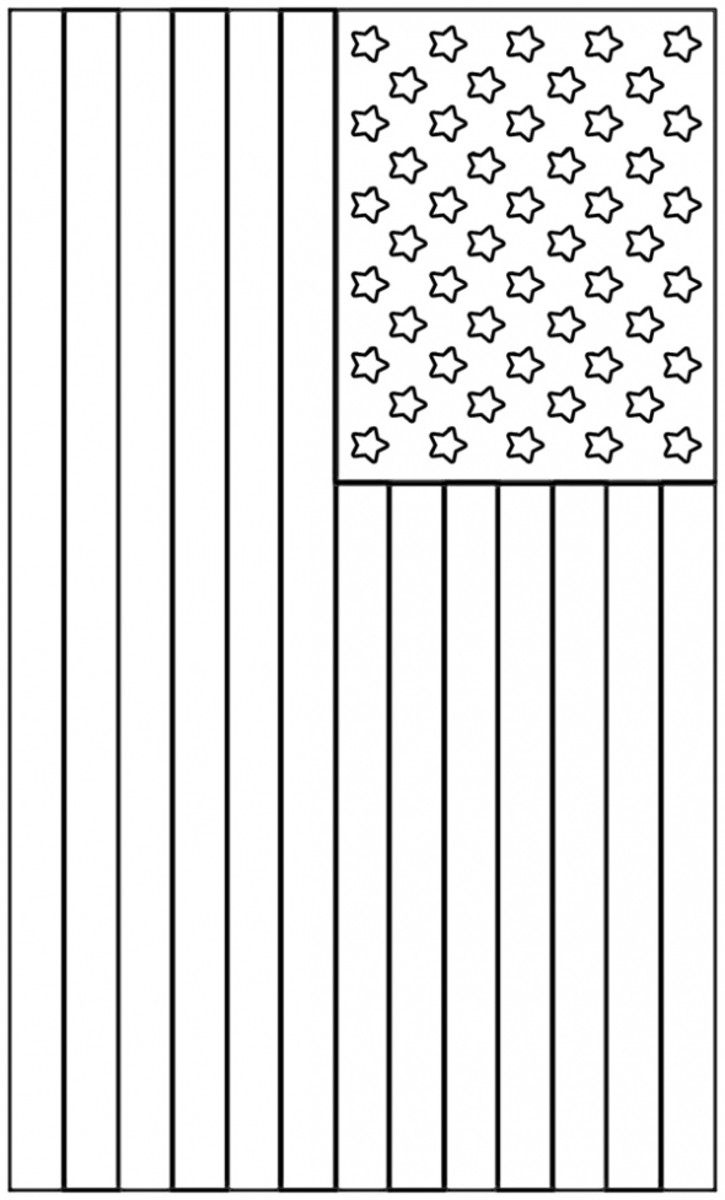 American Flag Printable Coloring Image