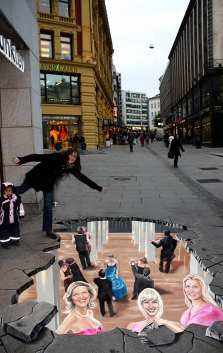 Anti-AIDS campaign, Oslo, by artist Manfred Stader