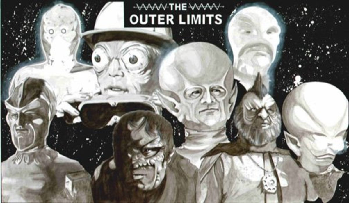 Some of the strange aliens in The Outer Limits.