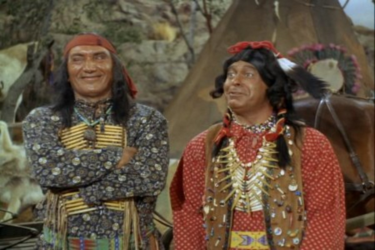 Chief Wildeagle and Crazy Cat of the bloodthirsty Howcowie indians.
