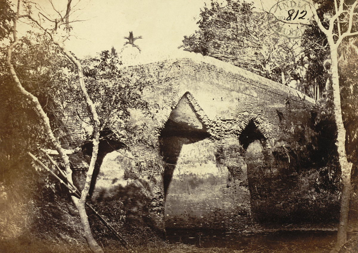 Old bridge, called Dullalpur pul, Sonargaon, 1872