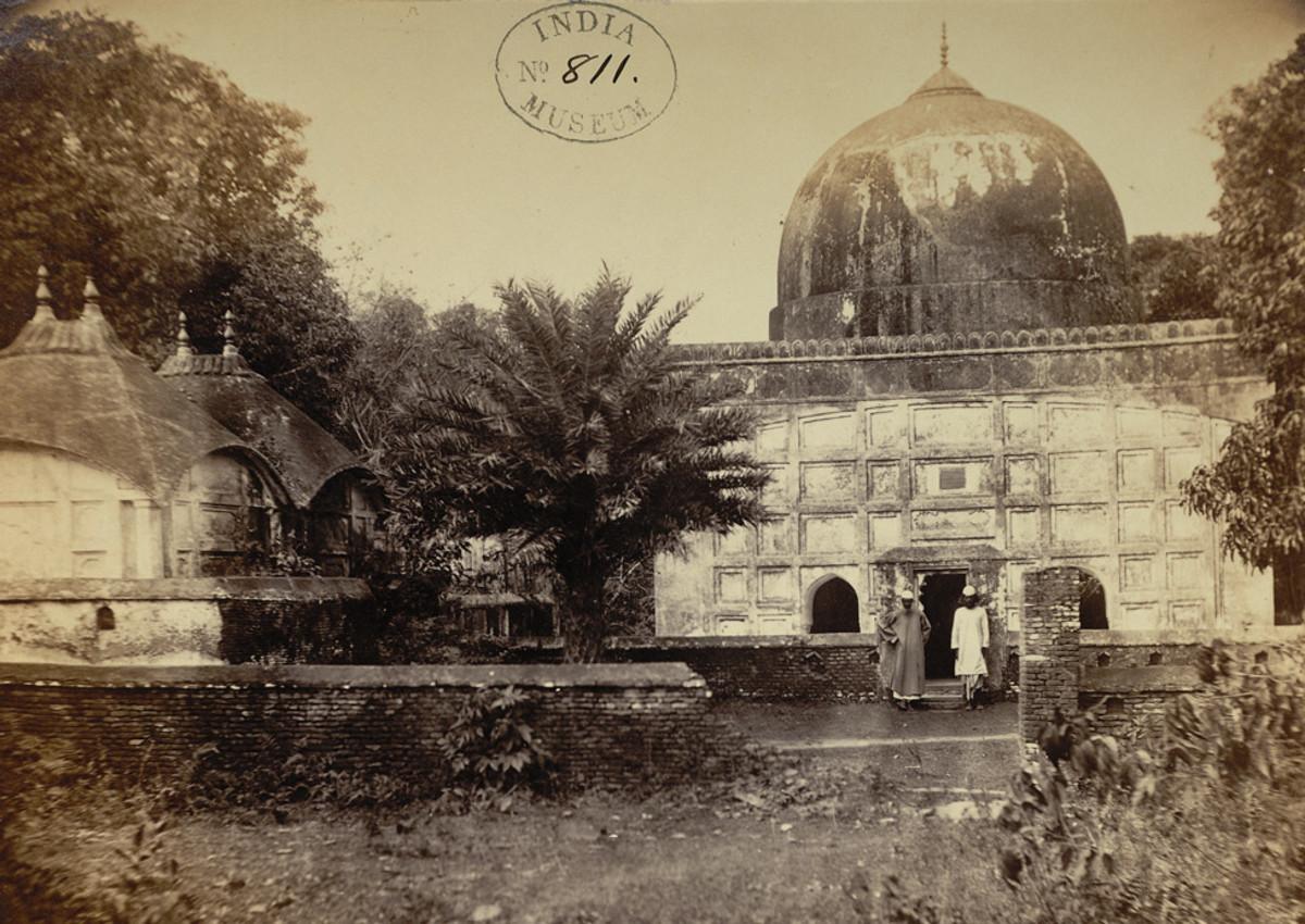Tomb and mosque of Khundar Muhammad Yusuf, Sonargaon, by W.Brennand, 1872