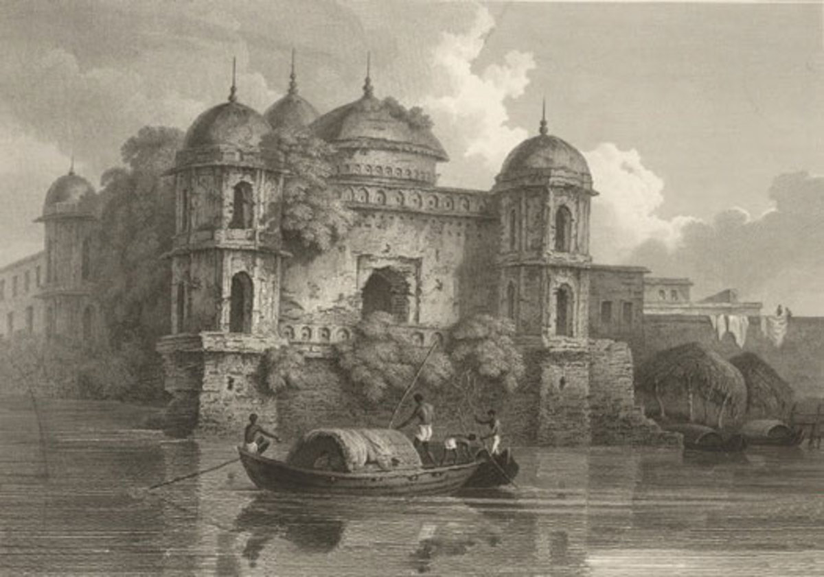 Shaat Masjid by D'Oyly, 1820's