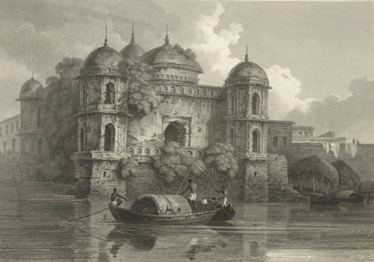 Shaat Masjid by D'Oyly, 1820's