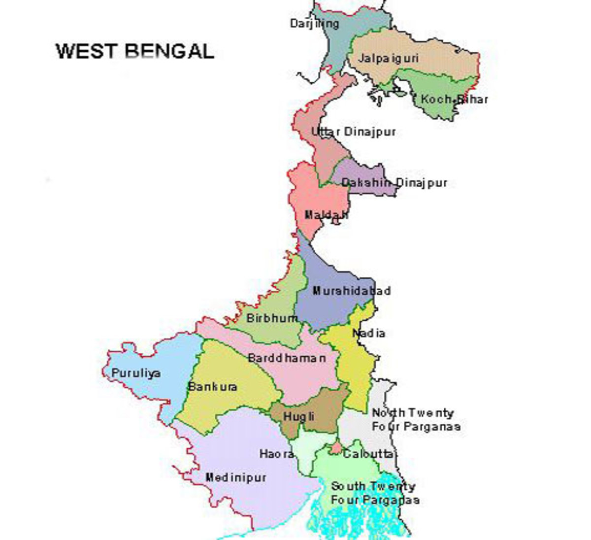 West Bengal (to India)