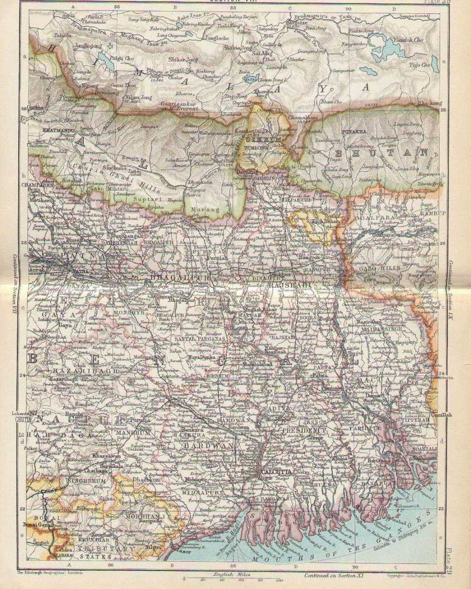 Map of Bengal, 1893