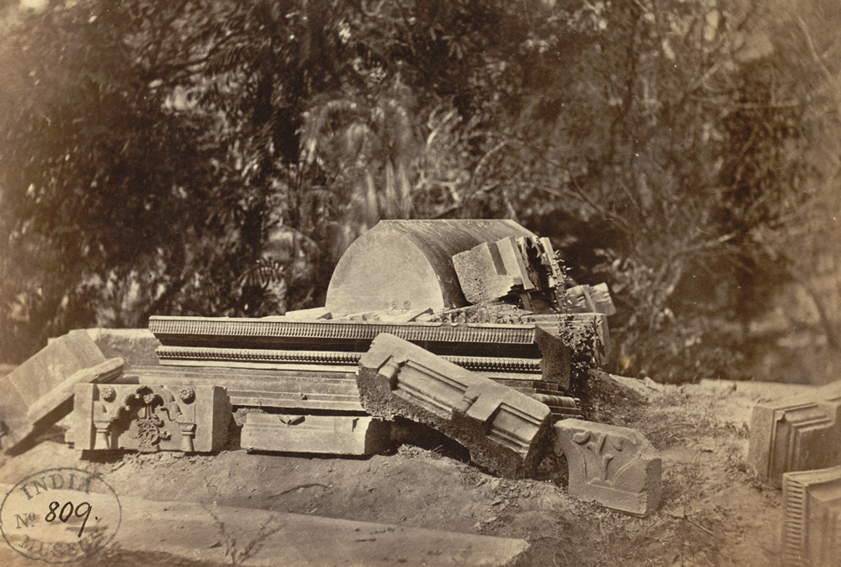 Ruins of the Tomb of Gyas-ud-din Azam Shah by W. Brennand, 1872