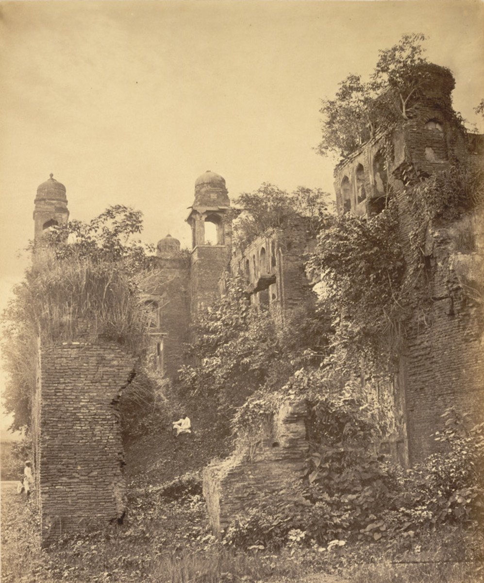Lalbagh Fort, south entrance, south view, 1870