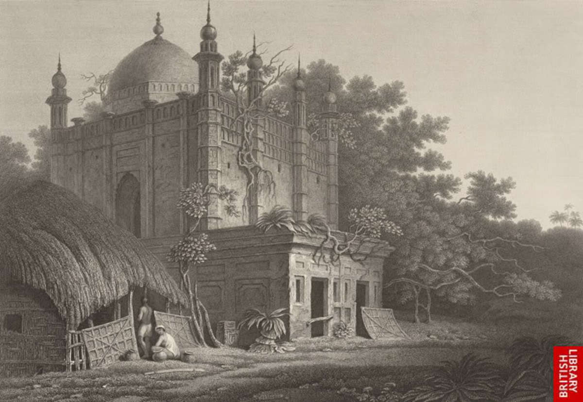 A Mosque at Maghbazar, Dhaka