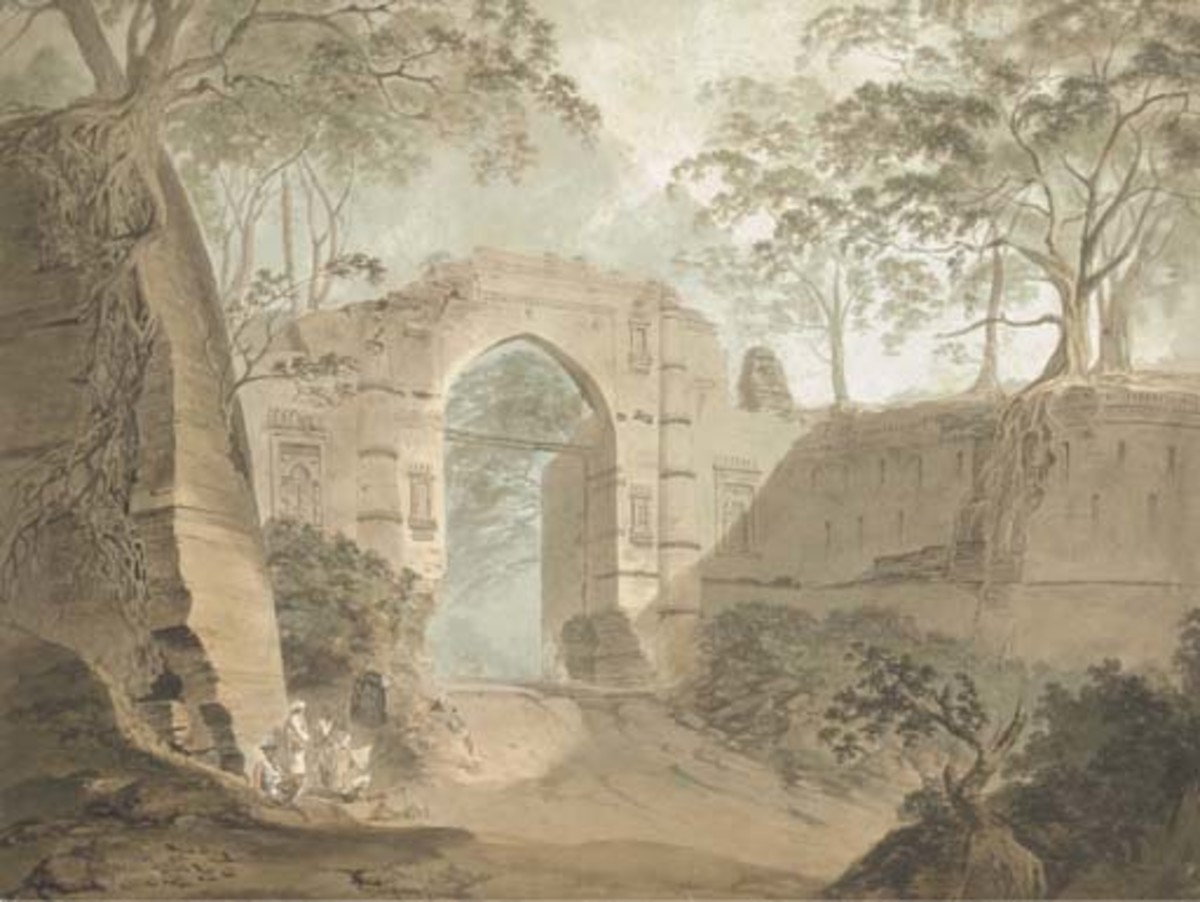 The Kotwali Gate, Gaur, Bengal by Samuel Davis