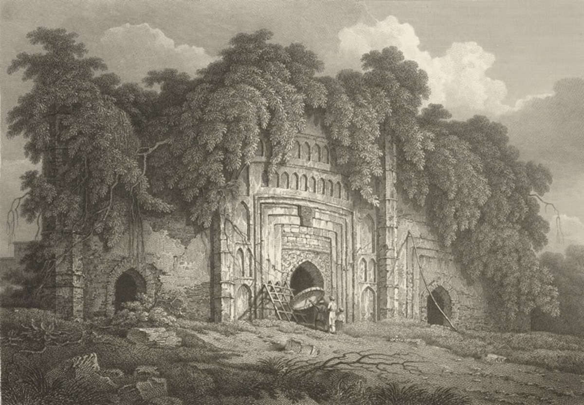 Mosque of Syuff Khan,  Dhaka by Charles D'Oyly, 1814