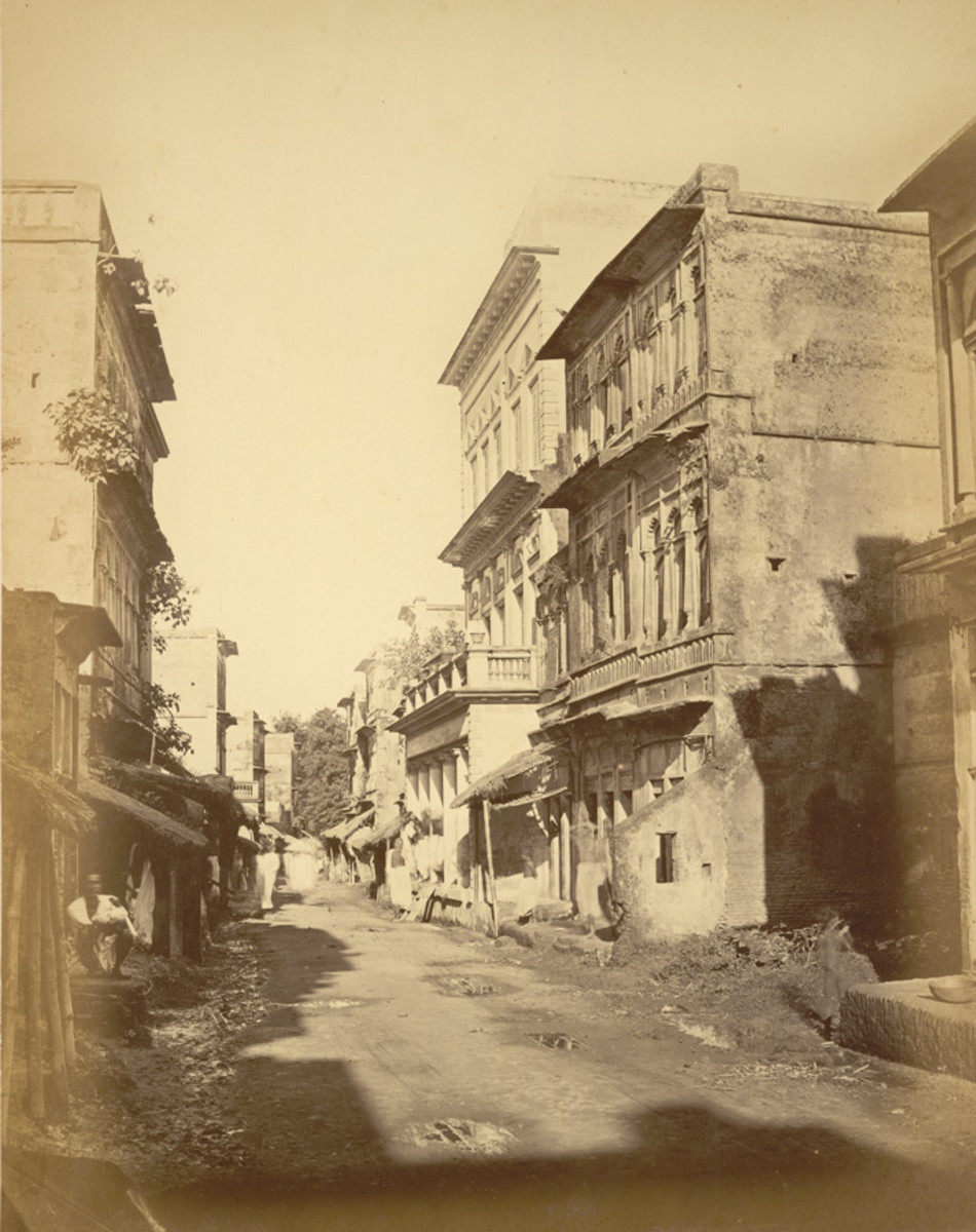 Panam road, Sonargaon, 1875