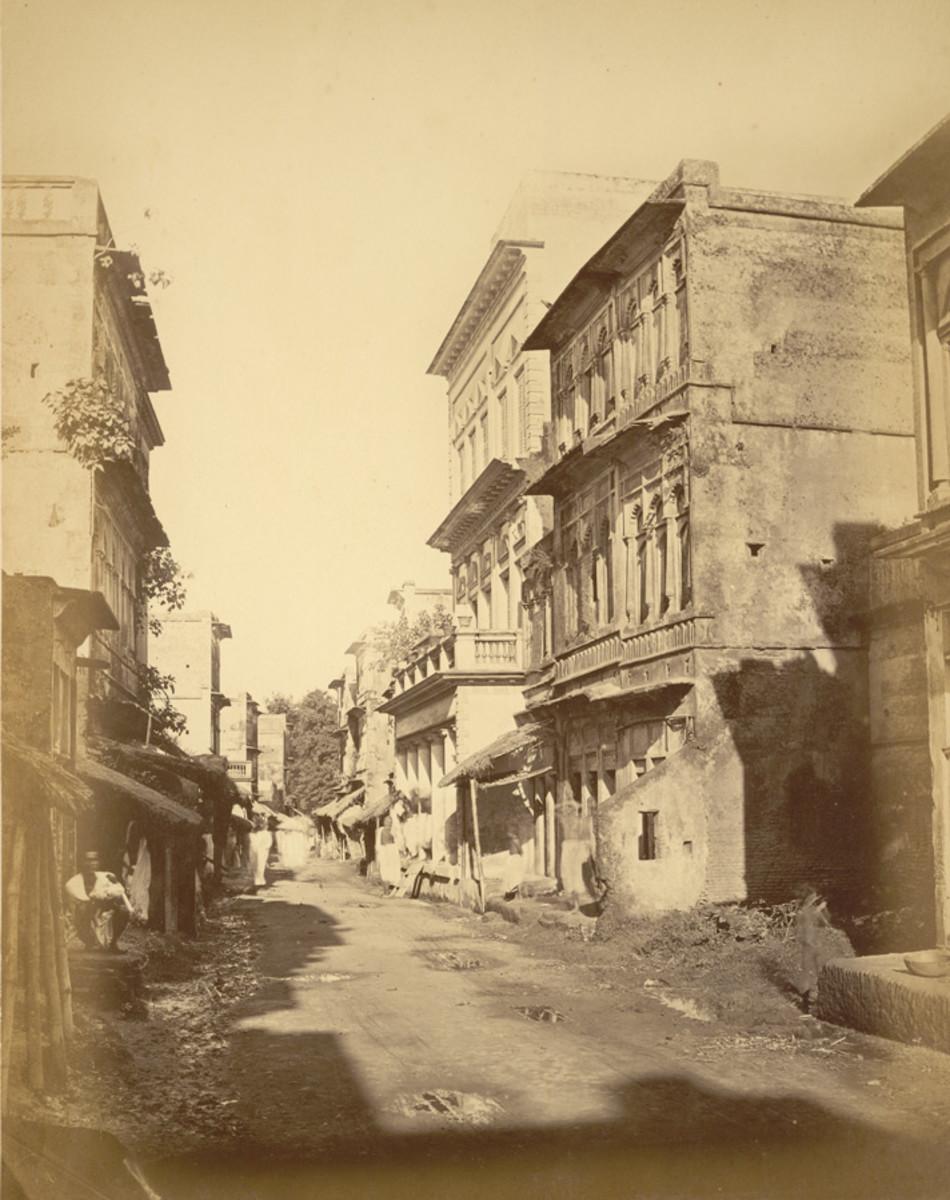 Panam road, Sonargaon, 1875