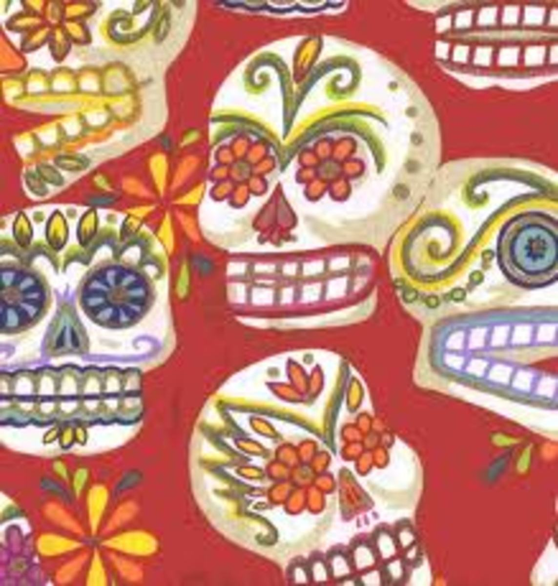 Dia de los muertos skulls are often brightly decorated with flowers - read on to find out why...