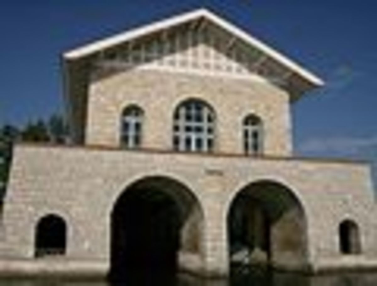 Rock Island Boathouse--located in the Thordarson Estate Historical District