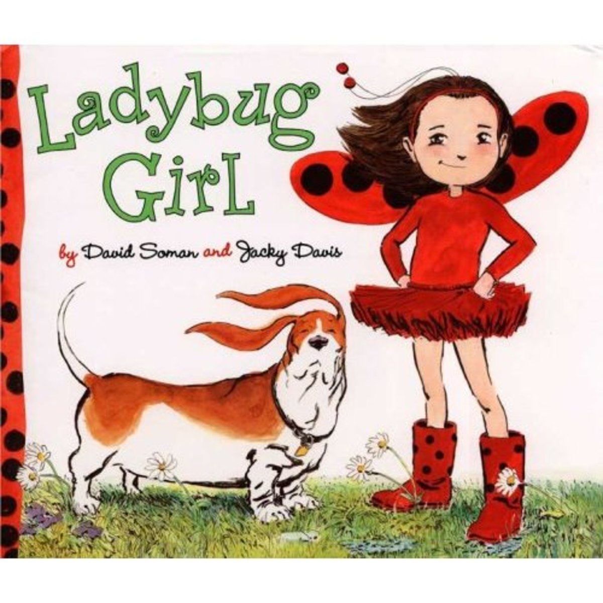 Ladybug Girl by David Soman is a recent bestselling children's book that pairs well with the Ladybug Game for gift giving.