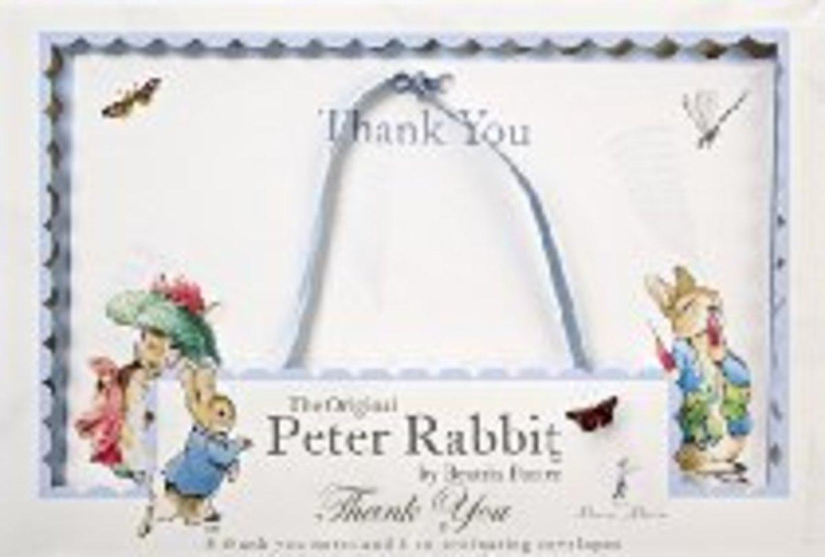 Peter Rabbit Thank You Notecards