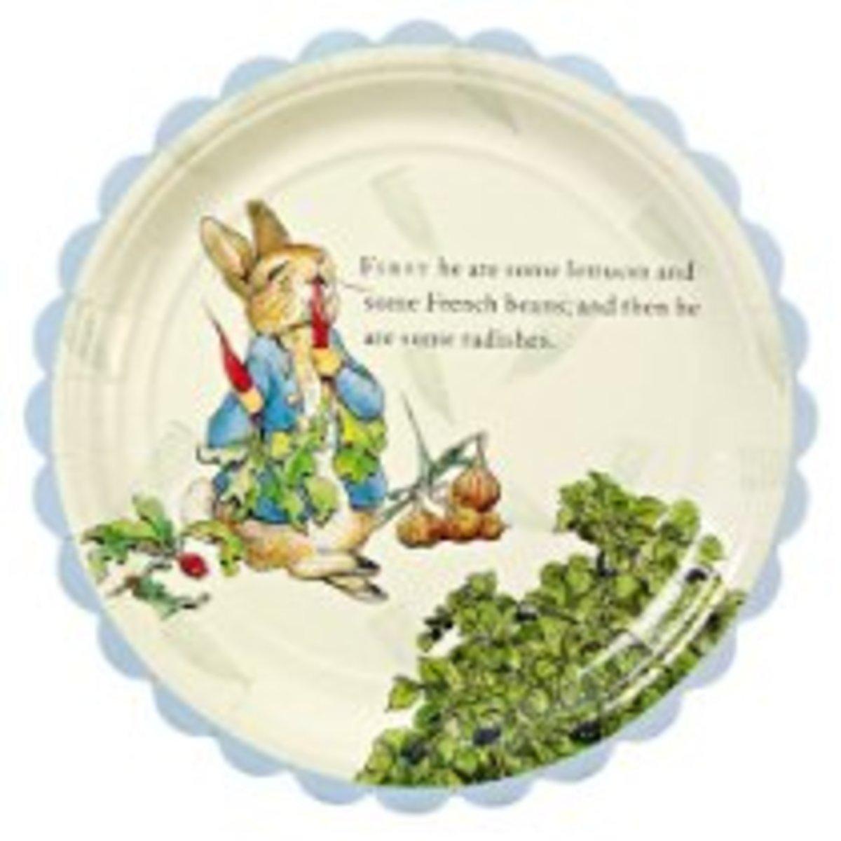 Peter Rabbit Paper Plate - Large