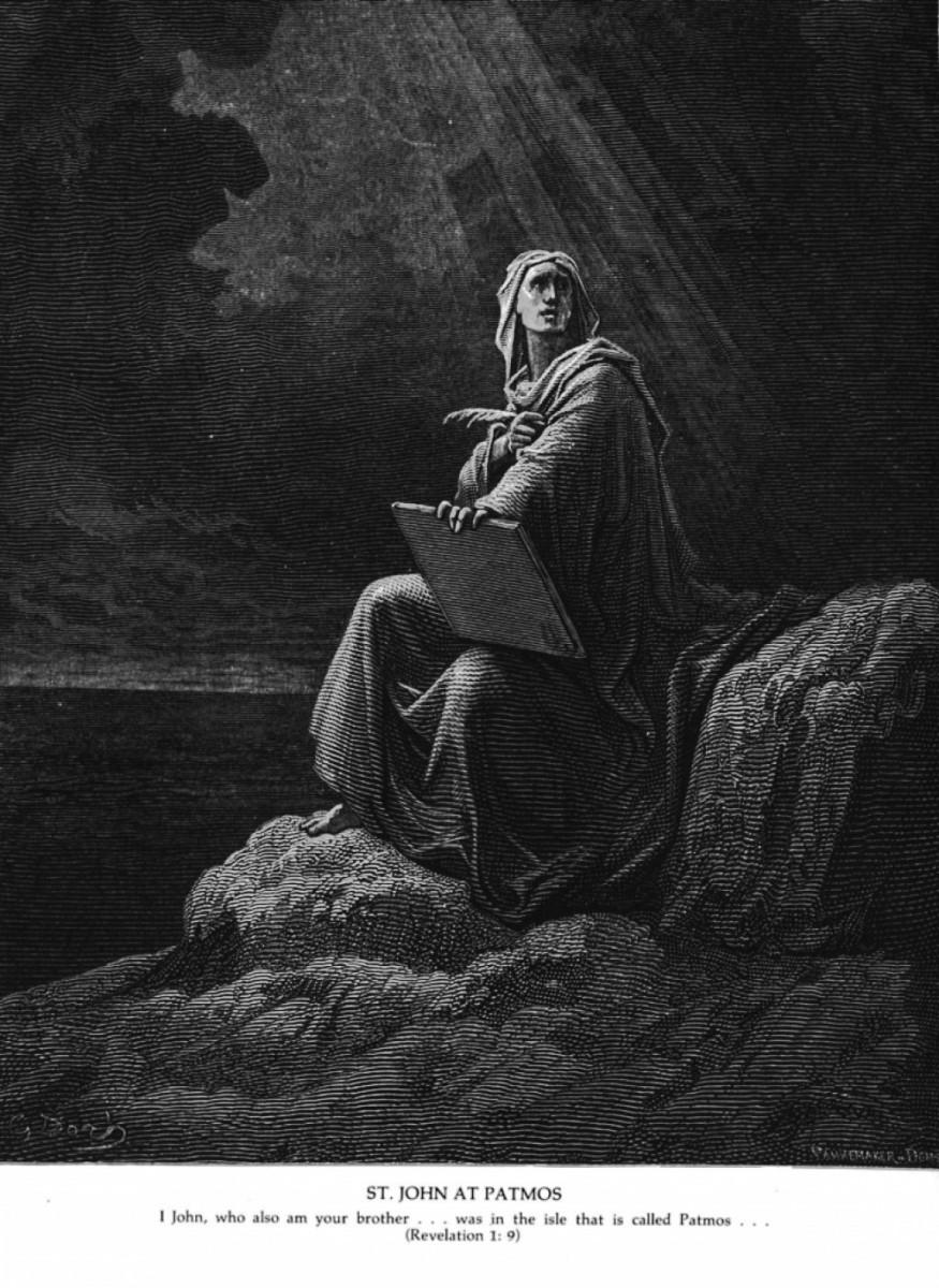 John at Patmos, Gustave Dore (1832-1883)
