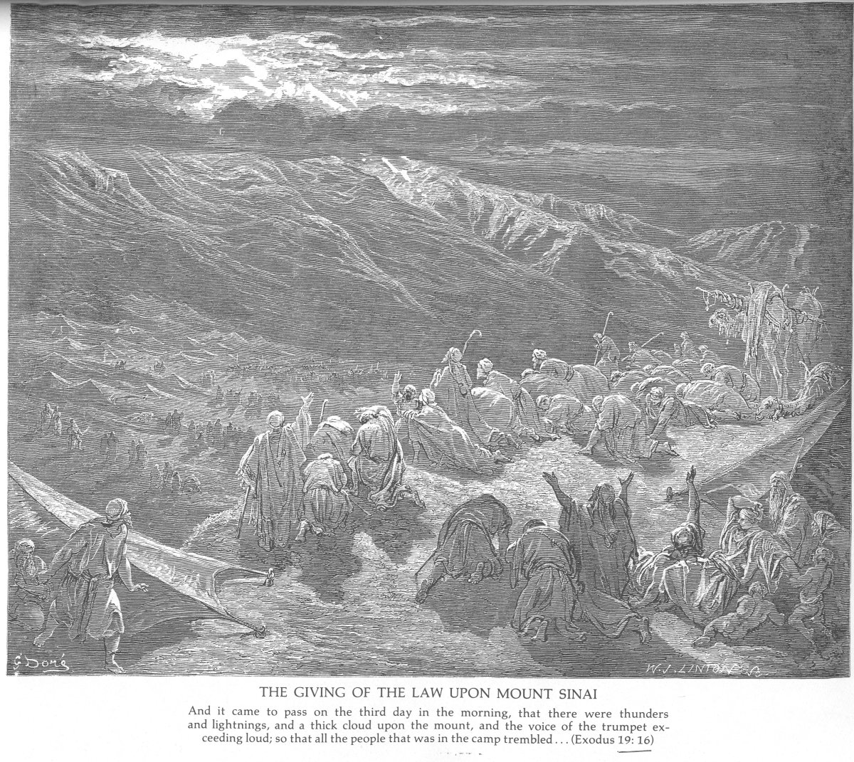 The Giving of the Law Upon Mount Sinai, Gustave Dore (1832-1883)